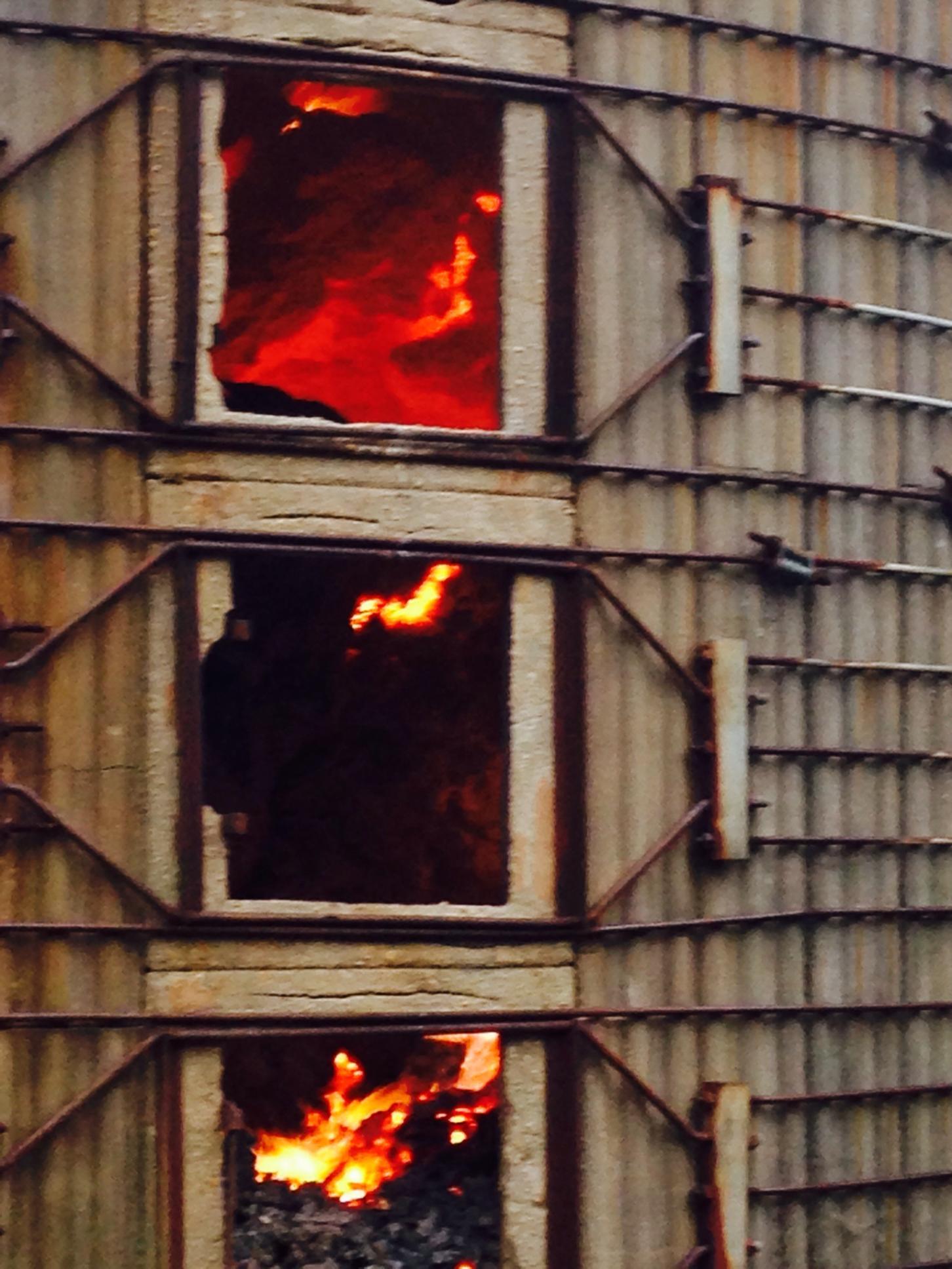 Silo Fire in Murfreesboro Thursday Morning