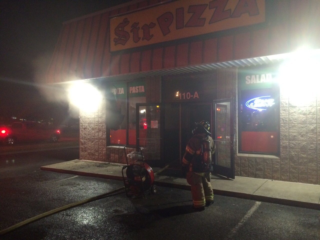 Fire at Sir Pizza in the Barfield Area