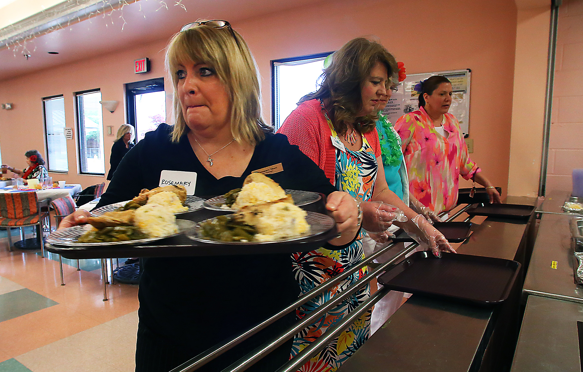 It was a festive atmosphere at the St. Clair St. Senior Center