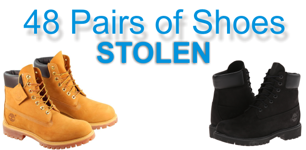 48 Pairs of shoes stolen in Murfreesboro