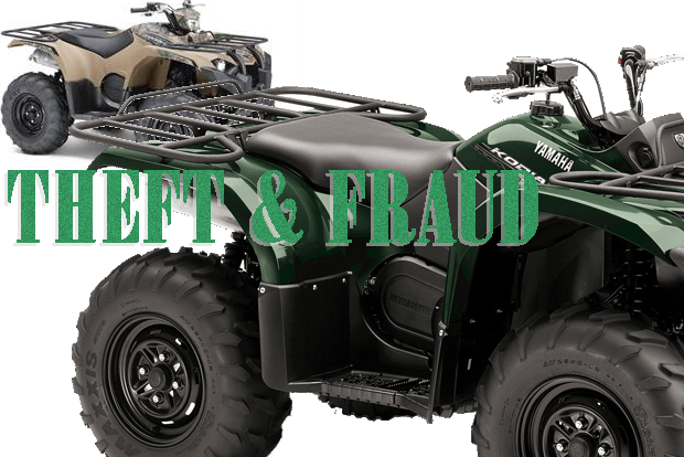 Fraud and Theft at local motorcycle shop