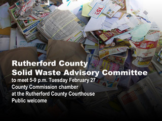 Solid Waste Advisory Committee to hold third meeting Feb. 27
