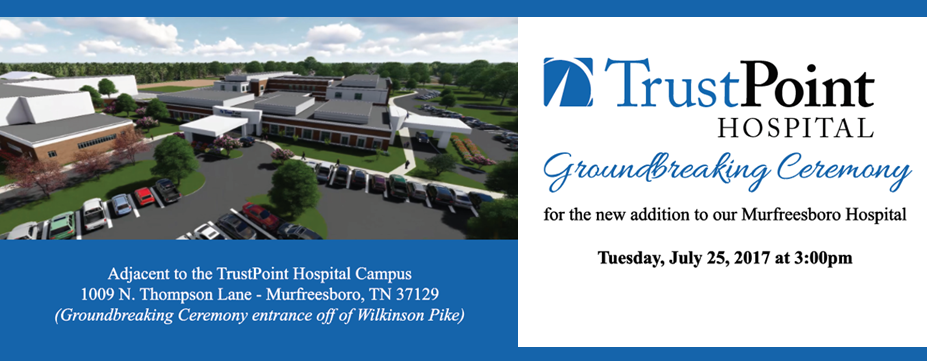 TrustPoint Hospital in Murfreesboro holding groundbreaking ceremony