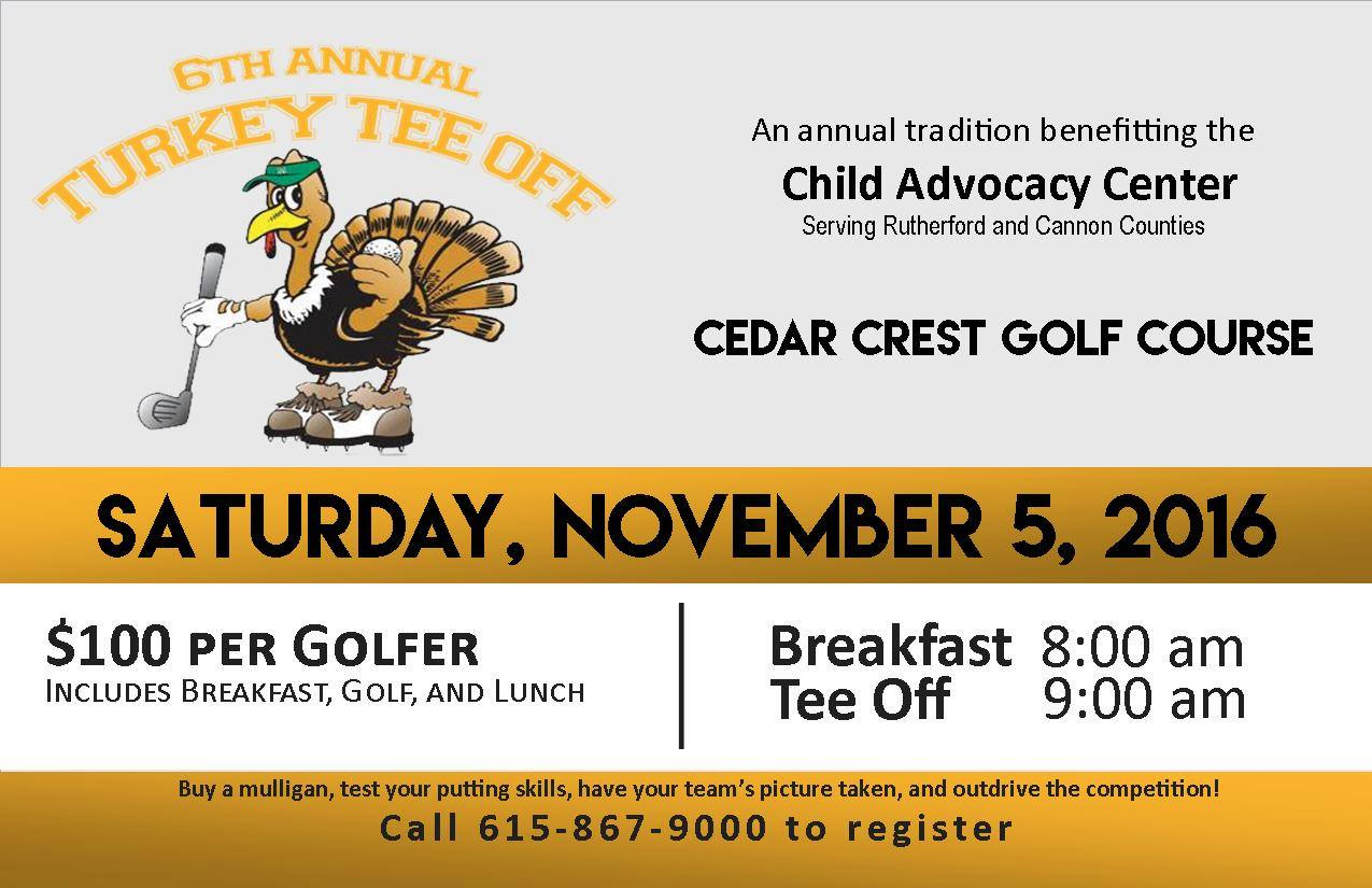Child Advocacy Center to hold 6th Annual Turkey Tee Off