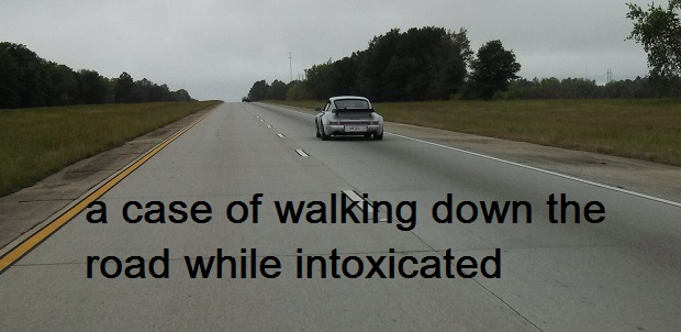 A report of Walking while Intoxicated in Cannon County