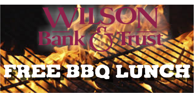 Free BBQ Lunch at Wilson Bank and Trust on Memorial Blvd in Murfreesboro this Friday