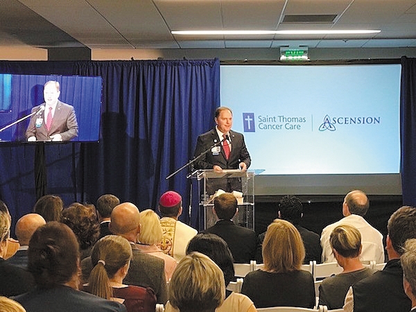 Ascension Saint Thomas Opens Cancer Center | Ascension Saint Thomas, Saint Thomas Health, Saint Thomas Midtown, Cancer Center, Tim Adams, Fahad Tahir, Oncology, Cancer Wellness Studio, Therapy Dogs, Saint Thomas Cancer Center