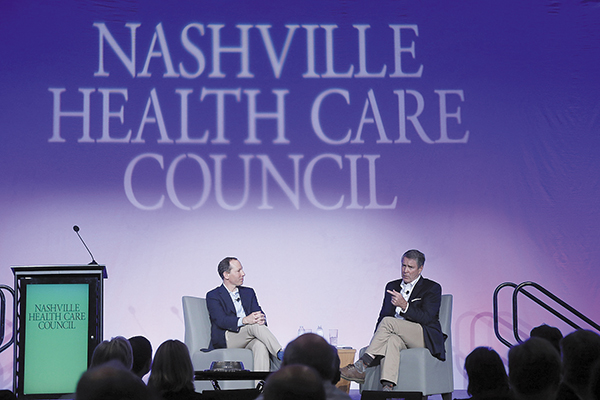 Taking Telemedicine to the Next Level | Nashville Health Care Council, Teladoc, Jason Gorevic, Telehealth, Healthcare Startup, Access to Care, Telemedicine, Bill Frist, C. Wright Pinson, Hayley Hovious