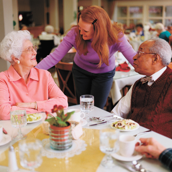 Socializing at senior community provides human touch