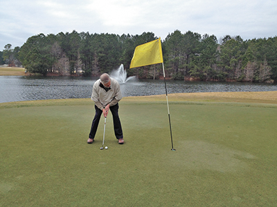 March winds require adjustments on the course