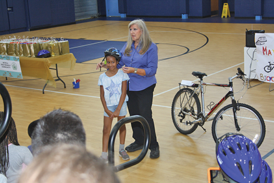 Young island residents get quick course in bicycle safety