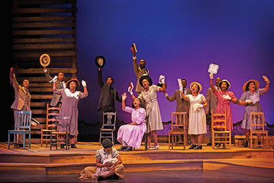 'Color Purple': Not even storm evacuations can stop the show