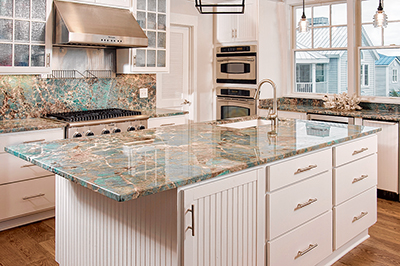 A new kitchen can be a grand holiday gift for your family. PHOTO COURTESY DISTINCTIVE GRANITE AND MARBLE