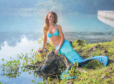 Real-life mermaid teaches kids about conservancy