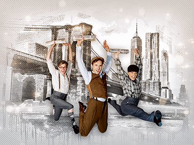 Paper boys strike gold in 'Newsies' at Arts Center