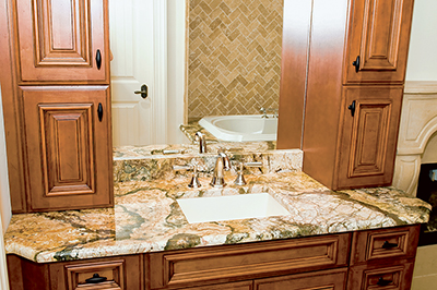 Put new stone countertops for kitchen or bath on your holiday wish list. PHOTO COURTESY DISTINCTIVE GRANITE AND MARBLE