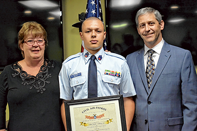 Cadet honored for life-  saving attention to woman