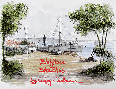 Corkern's sketches of life in Bluffton made into book