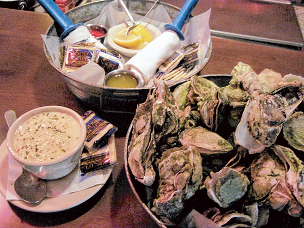 Toomer's oysters and she-crab soup
