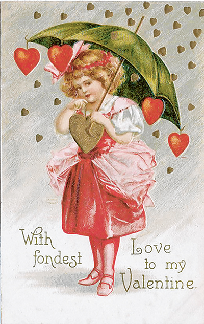 Example of Clapsaddle Valentines from the late 1800s and early 1900s.