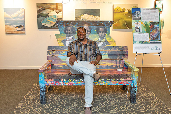 Heading to Beaufort? Stop and rest a while on artful benches