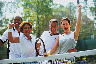 Play tennis to exercise body and brain, increase longevity