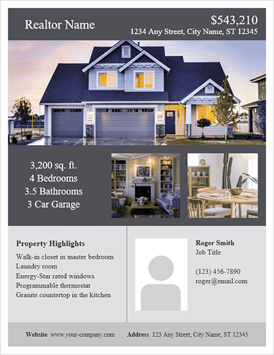 Attractive real estate flyers another tool to help sell homes