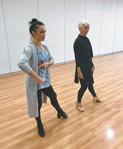 Coaching from a world champion enhances dance lessons