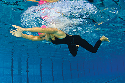 Apply Newton's second law of motion to improve swimming