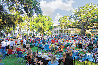 Outdoor summer concerts engage guests, help others