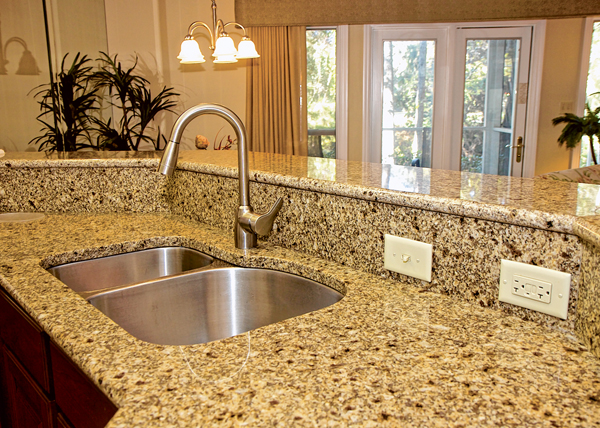 With minimal care and common sense, the beauty of your new stone will last for years to come. PHOTO COURTESY DISTINCTIVE GRANITE AND MARBLE