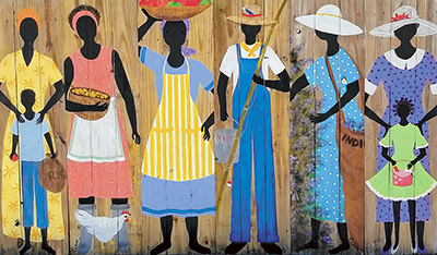 Tybee artist paints visions of vibrant Gullah culture
