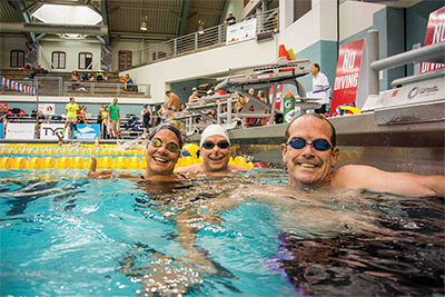 Swimmers of all ages and experience enjoyed the U.S. Masters Swimming Spring National Championship at the IU Natatorium in Indianapolis. COURTESY U.S. MASTERS SWIMMING