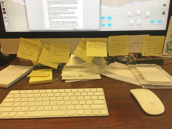 Writing notes helps clear the brain - and fill it again