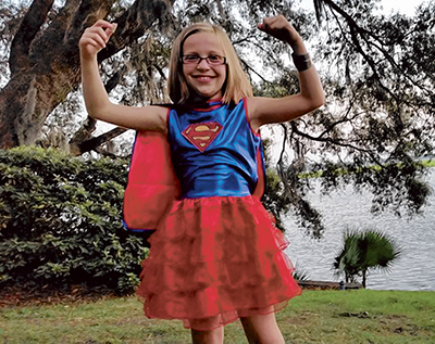 Super Chloe Bredeson of Bluffton will lead the TSC awareness walk Oct. 1 at Jarvis Creek Park.