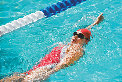 Competing or not, backstroke can be easier, more relaxing