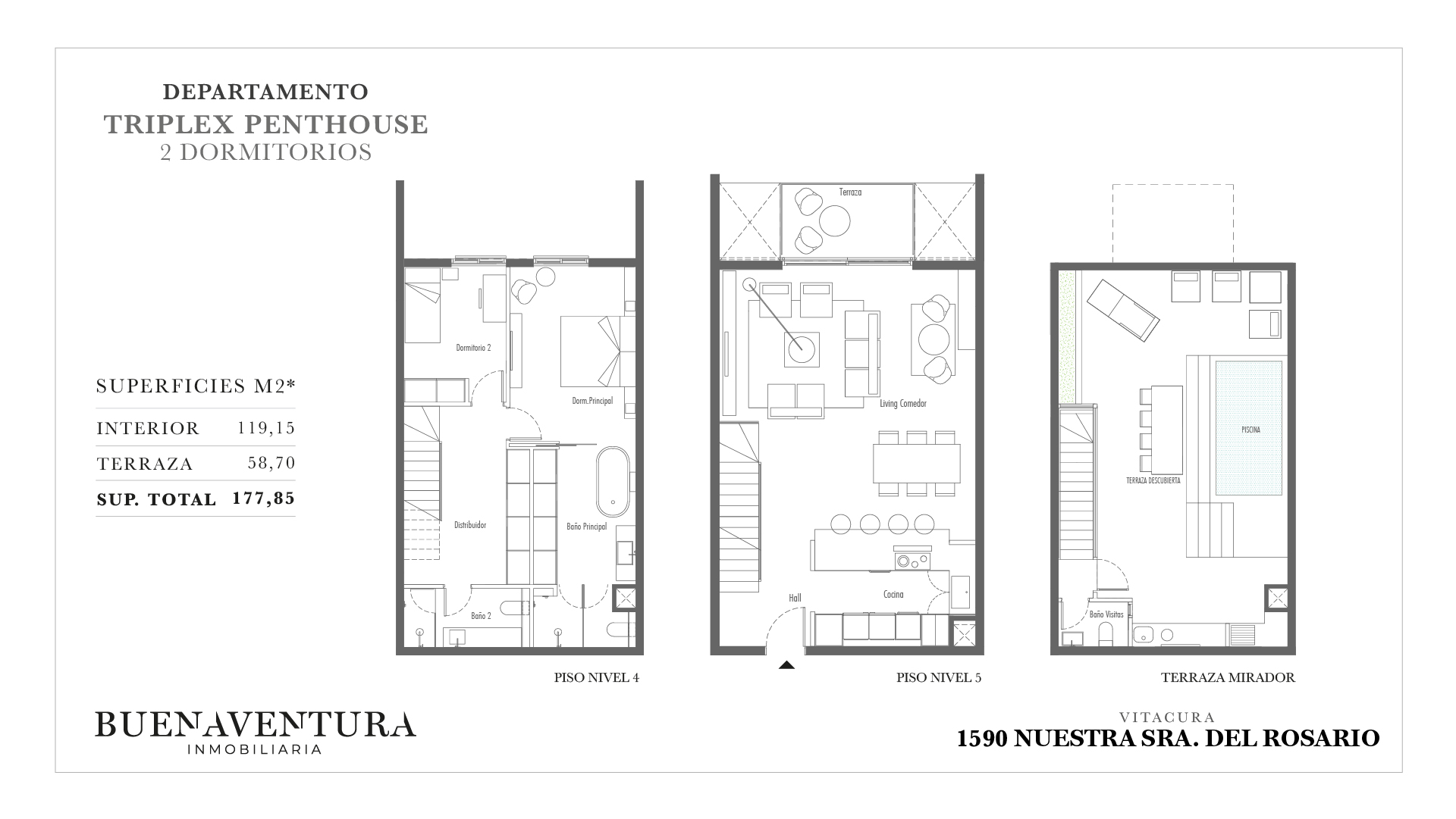 Triplex penthouse