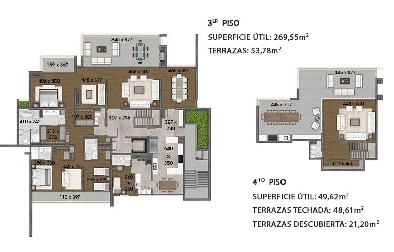 Planta tercer y cuarto piso
