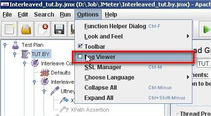 JMeter 2.6 Log Viewer