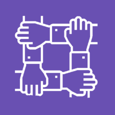 Teamwork purple