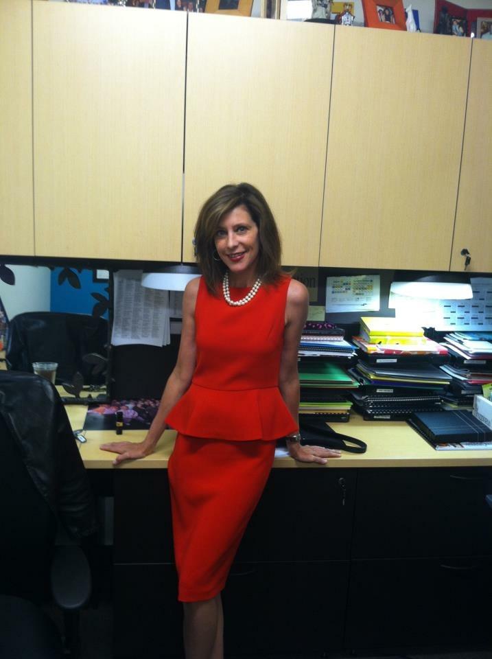 Susan chernoff red dress