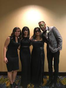 Masquerade ball with ladies