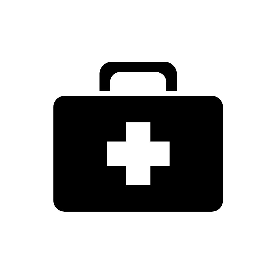 Hospital bag icon tran
