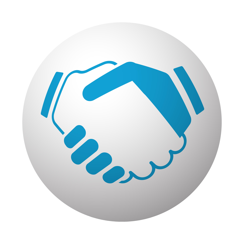 Handshake blue