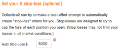 Automatic stop losses