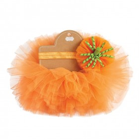 Mud Pie Pumpkin Headband & Tutu Set
