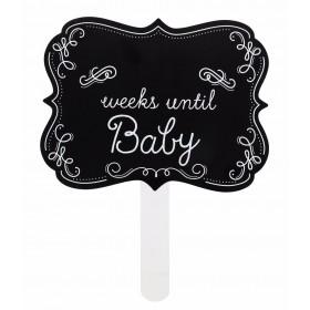 Pearhead Weeks Until Baby Chalkboard Sign