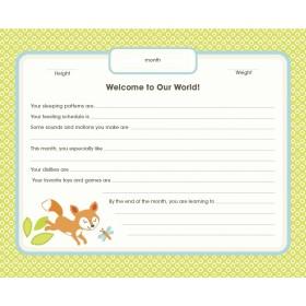 C.R. Gibson Baby's First Year Calendar - Woodland