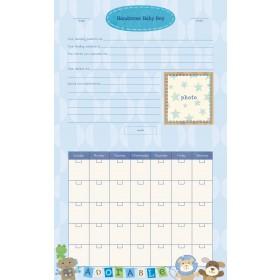 C.R. Gibson Baby's First Year Calendar − Boy, Oh Boy