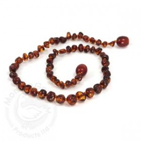 Momma Goose Baltic Amber Baby Teething Necklace